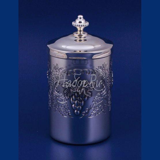 """Серебряная коробка для чая """"Виноградная лоза"""" (арт. С336848002)"""
