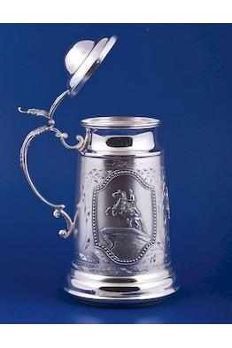 Серебряная кружка для пива №5