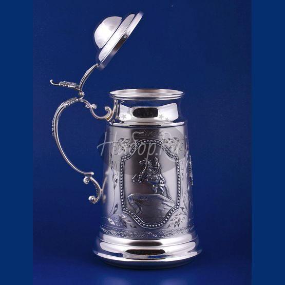 Серебряная кружка для пива №5 (арт. С33683700525)
