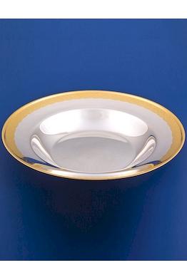 Серебряная тарелка суповая №18