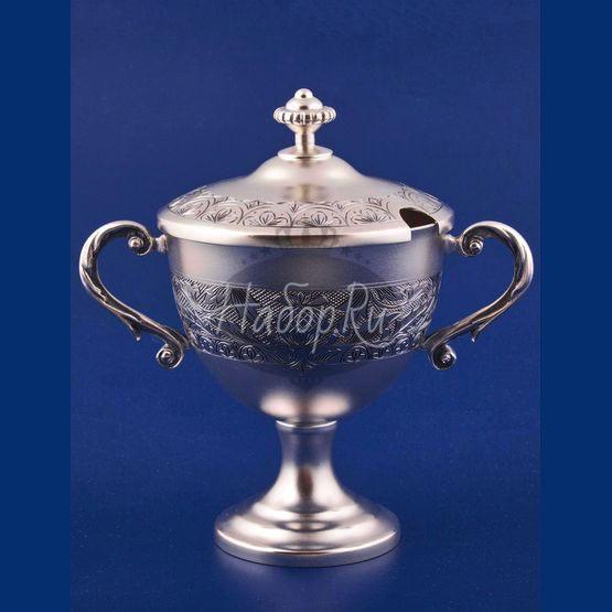 """Серебряная ваза для варенья №42 """"Ривьера"""" (арт. С 336843042)"""