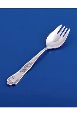Серебряная вилка для пирожного №10