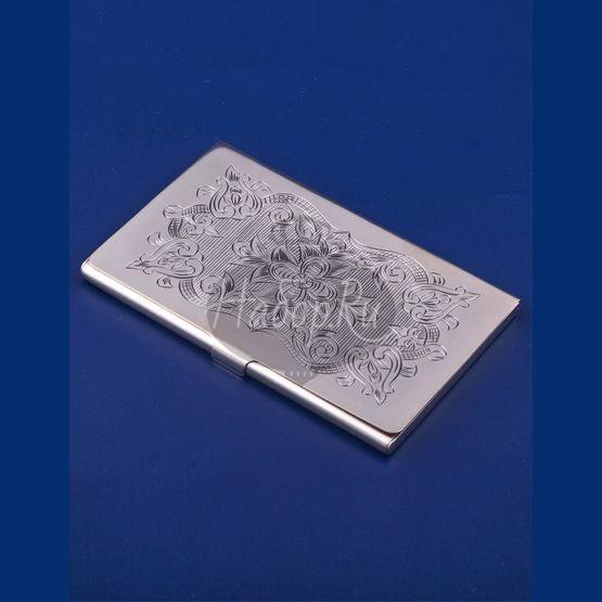 Серебряная визитница №5 (арт. С 33689500525)
