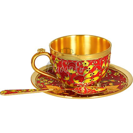 """Чашка с блюдцем """"Хохлома"""" (арт. 33328)"""